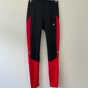 New balance leggings with zips at the calf